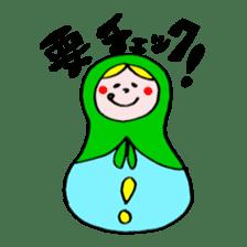 chating matryoshka doll sticker #430351