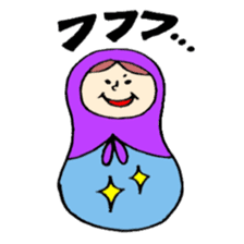 chating matryoshka doll sticker #430353