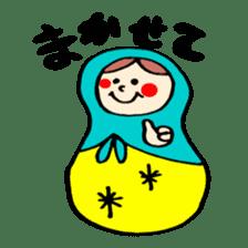 chating matryoshka doll sticker #430354