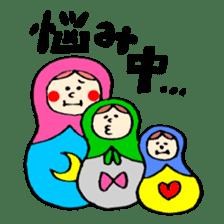 chating matryoshka doll sticker #430356