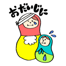 chating matryoshka doll sticker #430358