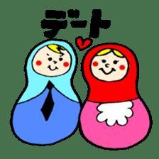 chating matryoshka doll sticker #430367