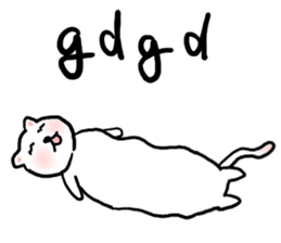 cute cat net slang sticker #432319