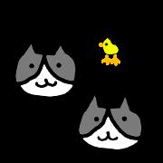 สติ๊กเกอร์ไลน์ nyanta and nyansuke