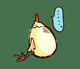 A chicken with husks sticker #433290