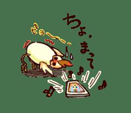 A chicken with husks sticker #433291
