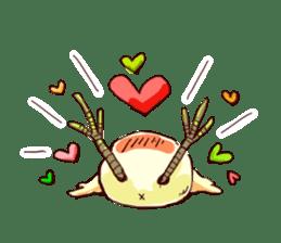 A chicken with husks sticker #433293