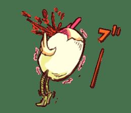 A chicken with husks sticker #433297