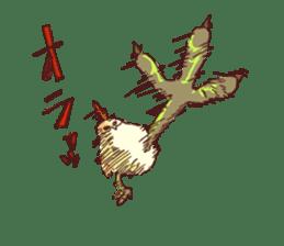 A chicken with husks sticker #433298