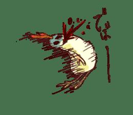 A chicken with husks sticker #433299