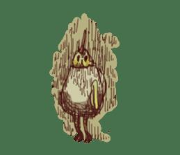 A chicken with husks sticker #433302