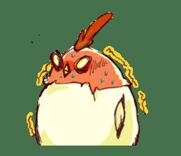 A chicken with husks sticker #433303