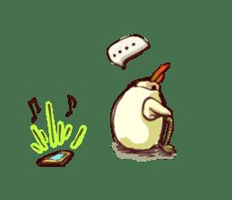 A chicken with husks sticker #433311