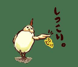 A chicken with husks sticker #433314
