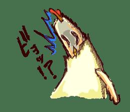 A chicken with husks sticker #433317