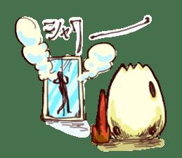 A chicken with husks sticker #433318