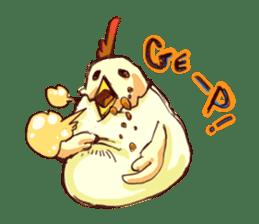A chicken with husks sticker #433319