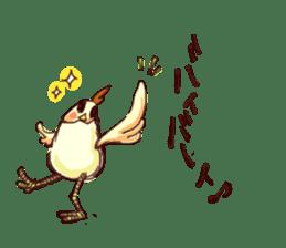A chicken with husks sticker #433320