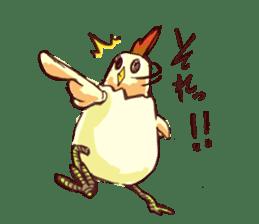 A chicken with husks sticker #433325