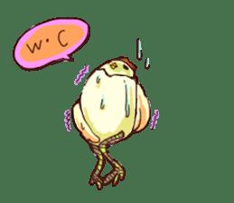A chicken with husks sticker #433327
