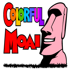 COLORFUL MOAI