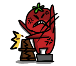 life of tomatoes sticker #434326