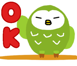 Fukuro the sleepy owl sticker #435009