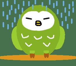Fukuro the sleepy owl sticker #435021