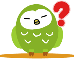 Fukuro the sleepy owl sticker #435023