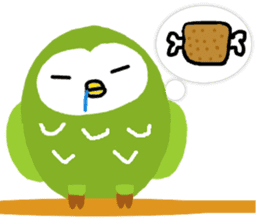 Fukuro the sleepy owl sticker #435031
