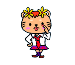cute and heart twinges a bit stamp sticker #436057