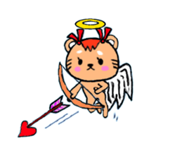 cute and heart twinges a bit stamp sticker #436065