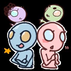 An awkward alien