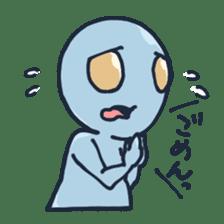 An awkward alien sticker #436745