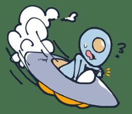 An awkward alien sticker #436756