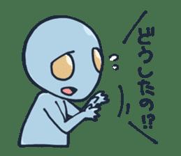 An awkward alien sticker #436766
