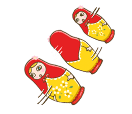 "matryoshka doll ""nina"" sticker #436939"