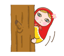 "matryoshka doll ""nina"" sticker #436949"