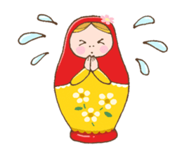"matryoshka doll ""nina"" sticker #436950"