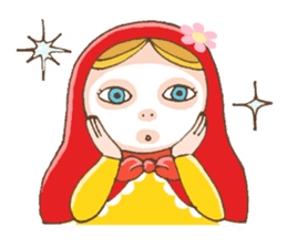 "matryoshka doll ""nina"" sticker #436958"
