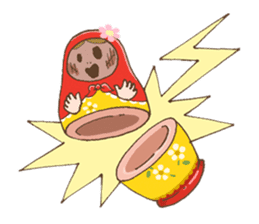 "matryoshka doll ""nina"" sticker #436965"