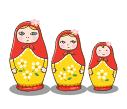 "matryoshka doll ""nina"" sticker #436967"
