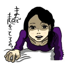 Japanese mature woman stamp sticker #437270