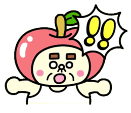 Fairy apple sticker #438545