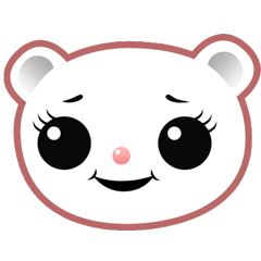 Berry, kawaii little white bear