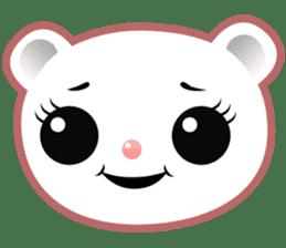 Berry, kawaii little white bear sticker #439969