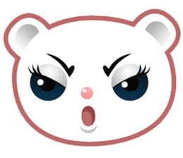 Berry, kawaii little white bear sticker #439971