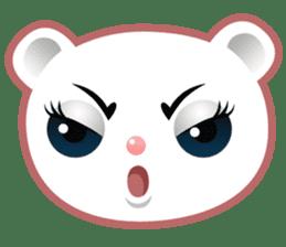 Berry, kawaii little white bear sticker #439971