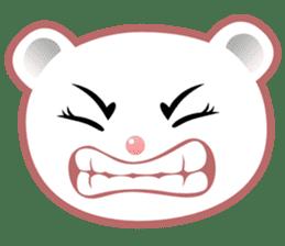 Berry, kawaii little white bear sticker #439974