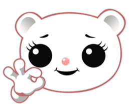 Berry, kawaii little white bear sticker #439976